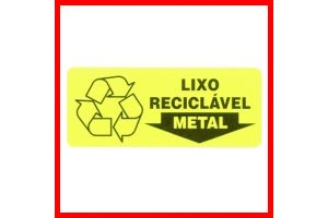 Placa Lixo Reciclavel